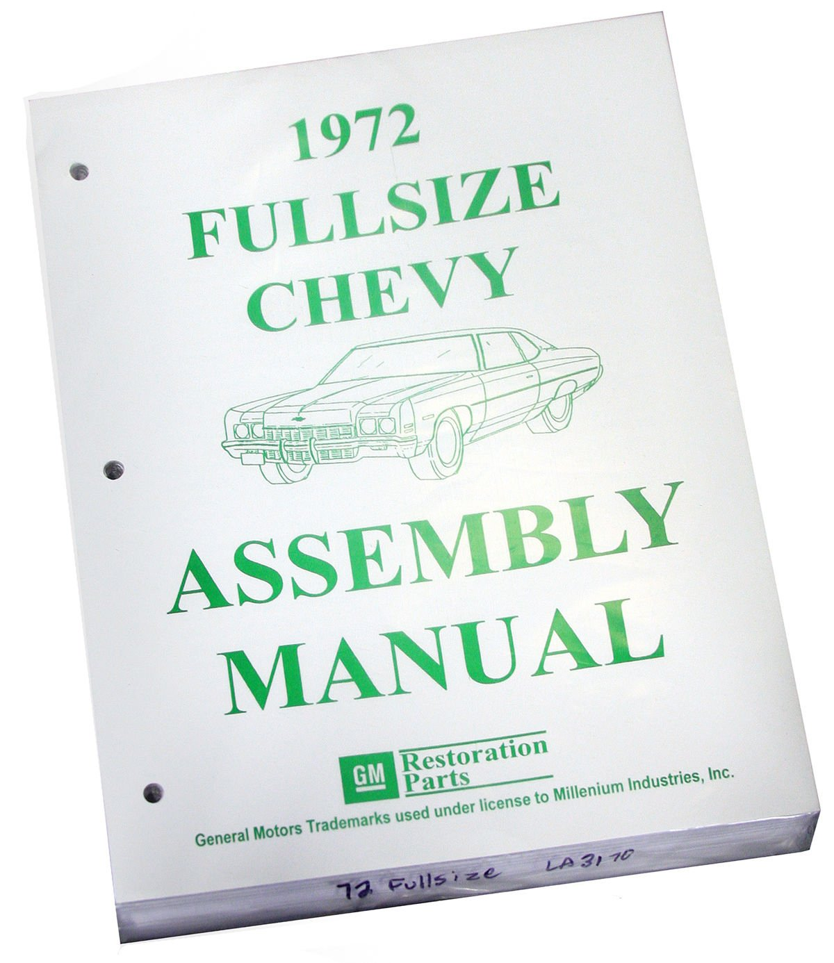Inline Tube (I-2-12) Factory Assembly Manual for 1972 Chevrolet Full Size Cars Bel Air and Impala