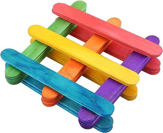 Aolvo - Palillos de palos para manualidades, palitos de madera ...