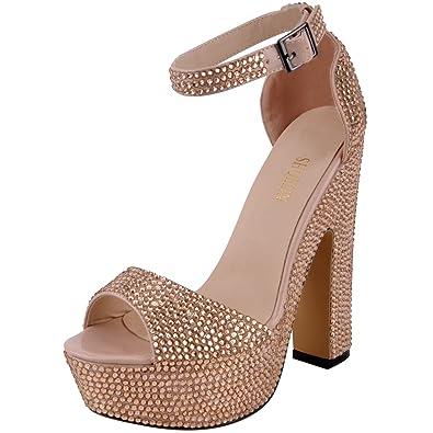 ff0e6c809a7 SHOELIN Rhinestone Heels