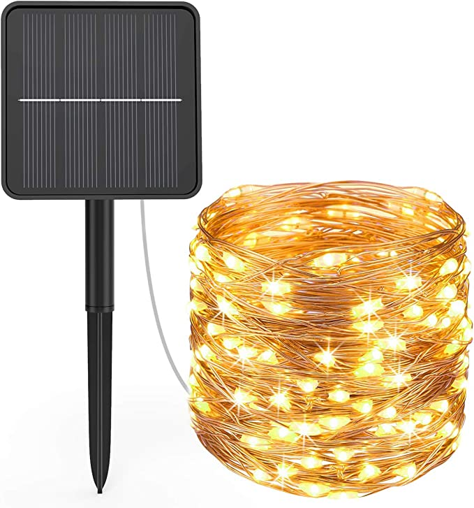 Hepside Solar Fairy Lights Outdoor Led Fairy Lights Solar Outdoor Ip65 Waterproof 8 Mode Balcony Fairy Lights Solar For Decoration Patio Christmas Party Warm White Beleuchtung