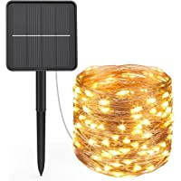 Guirnalda Luces Exterior Solar, Hepside Cadena de Luces 24m 240 LED 8 Modos Guirnalda Solar Impermeable LED Solar Jardin…