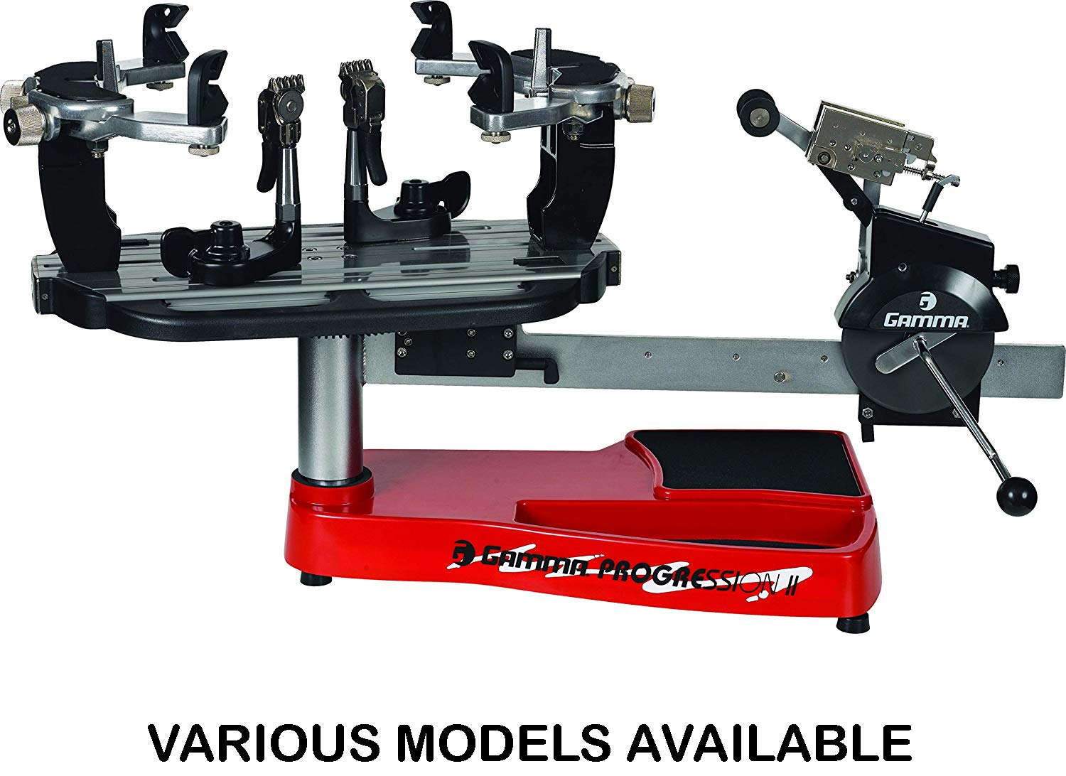 Gamma Progression ST II Machine: 360 Degree Rotation Tabletop Racquet Stringer Machines with Stringing Accessories/Racket String Tools - Strings Racquetball, Squash, Tennis or Badminton Rackets