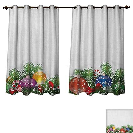 office window curtains roller christmas bedroom thermal blackout curtains holiday season office festive design tree celebration snowflakes window curtain amazoncom