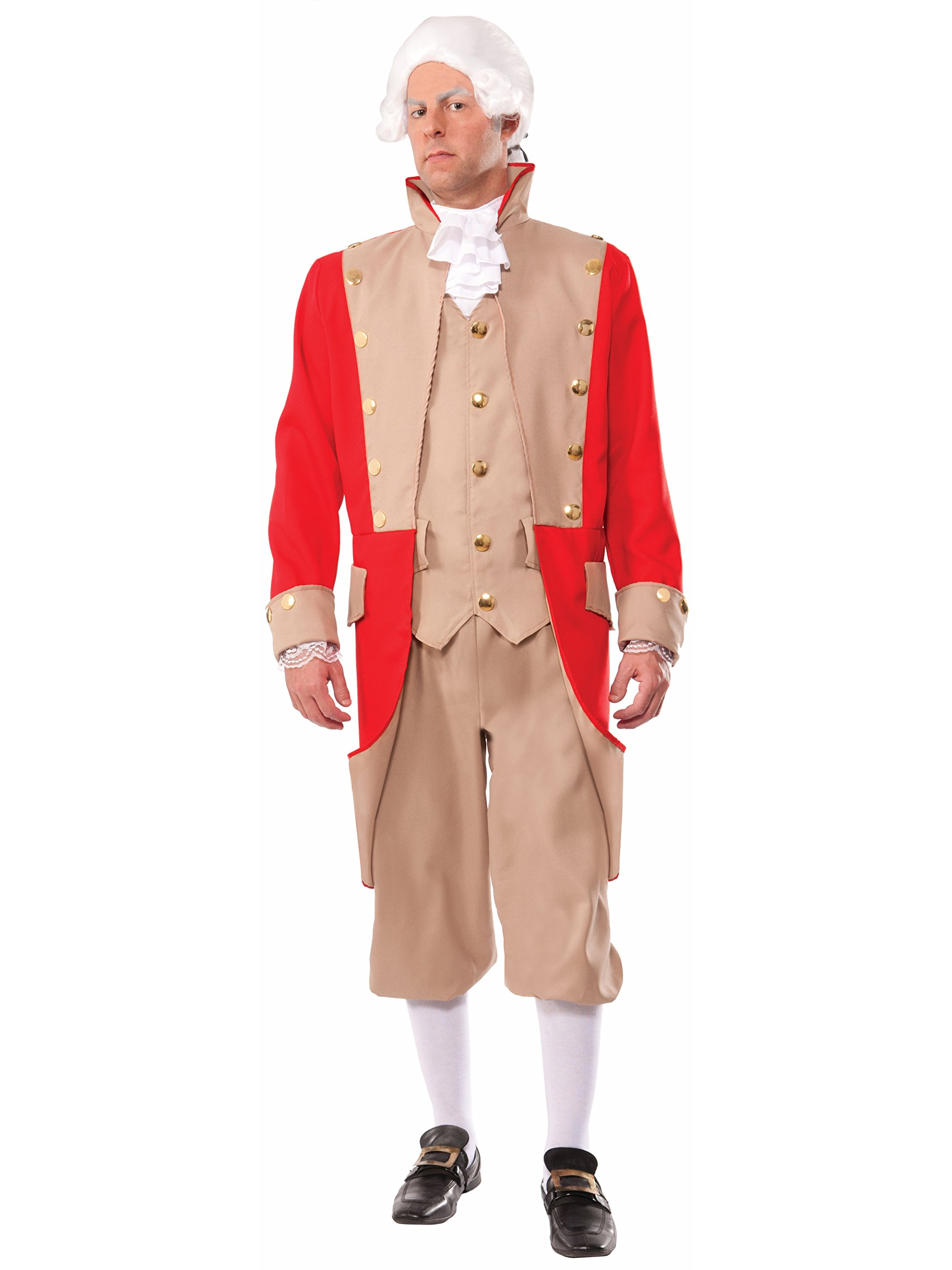 Forum Novelties Men's British Red Coat Xl Deluxe Costume, Multi, X-Large