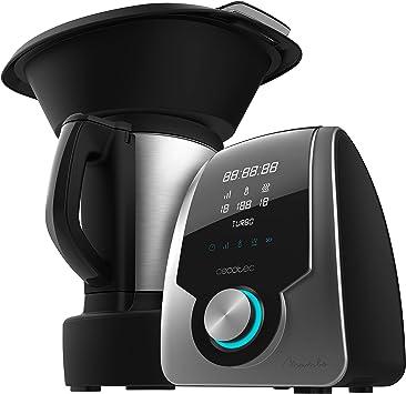 Cecotec Robot de Cocina Multifunción Mambo Silver. Capacidad de 3,3l, Temperatura hasta 120ºC con Selección Grado a Grado, 10 Velocidades + Turbo, Programable hasta 12h, Incluye Recetario, 1700 W: Amazon.es: Hogar