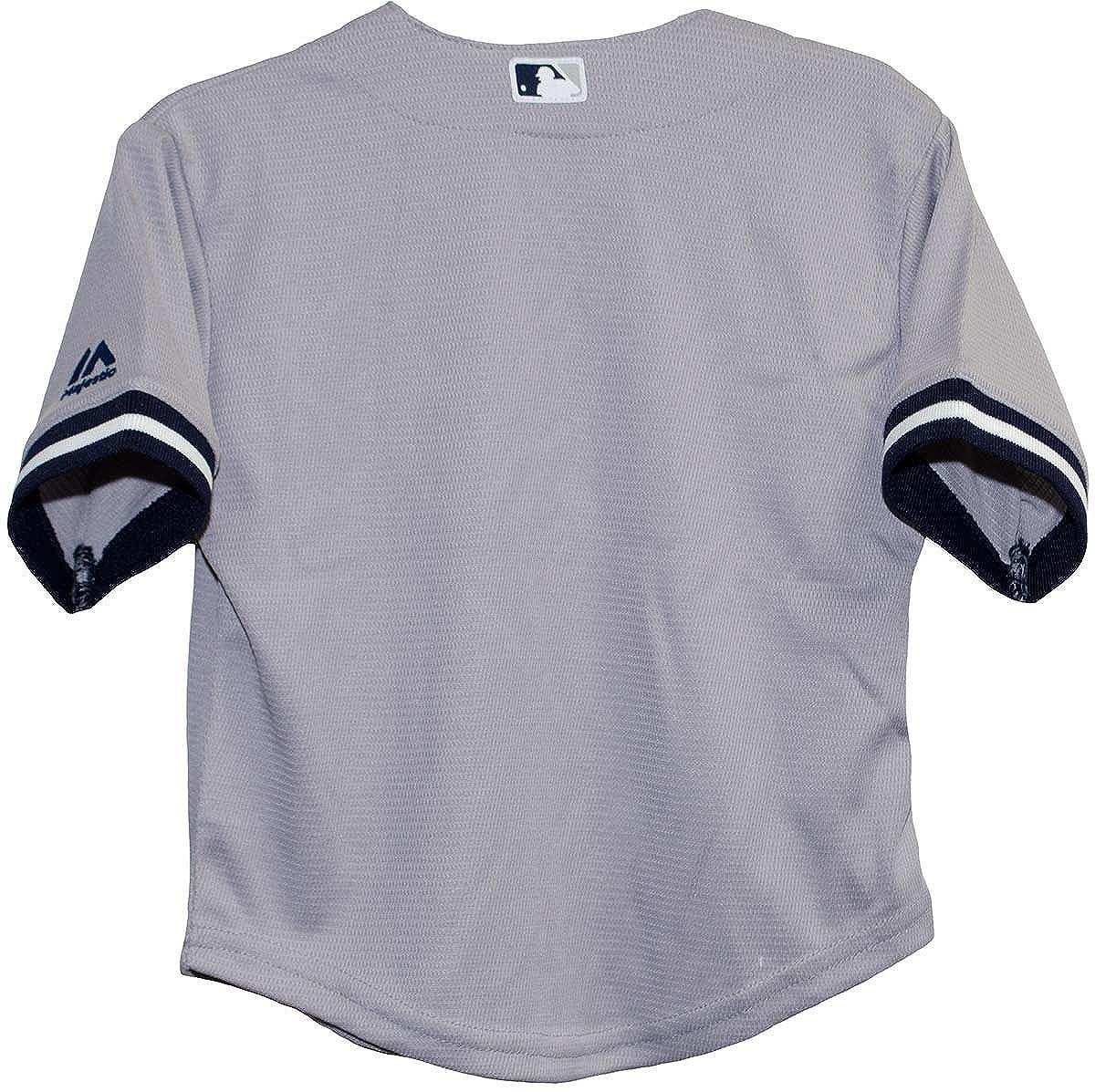 b6875020bf8 Amazon.com  Majestic Big Kid s New York Yankees Gray Major League Baseball  MLB Jersey (7 Large)  Clothing