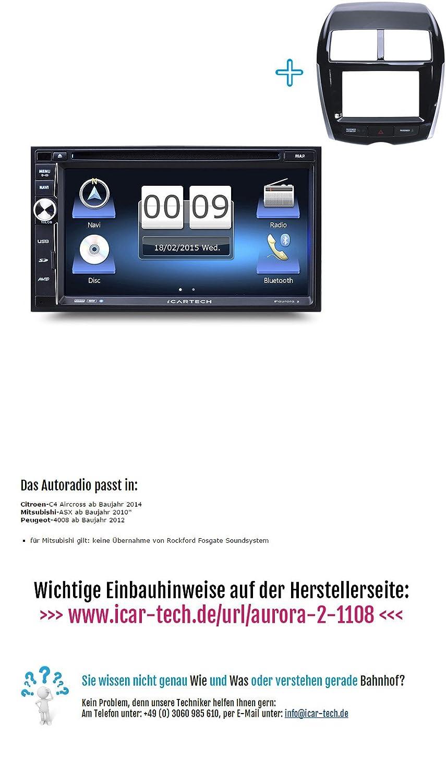 7 alta velocidad Navegación de radio de coche para Citroen C4 Aircross de Aurora 2 - iPhone & Android Wifi duplicación/Control de volante posible/GPS ...