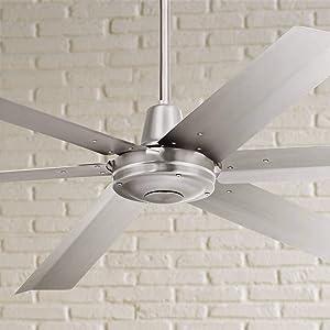 "60"" Turbina Max Brushed Nickel Outdoor Ceiling Fan"