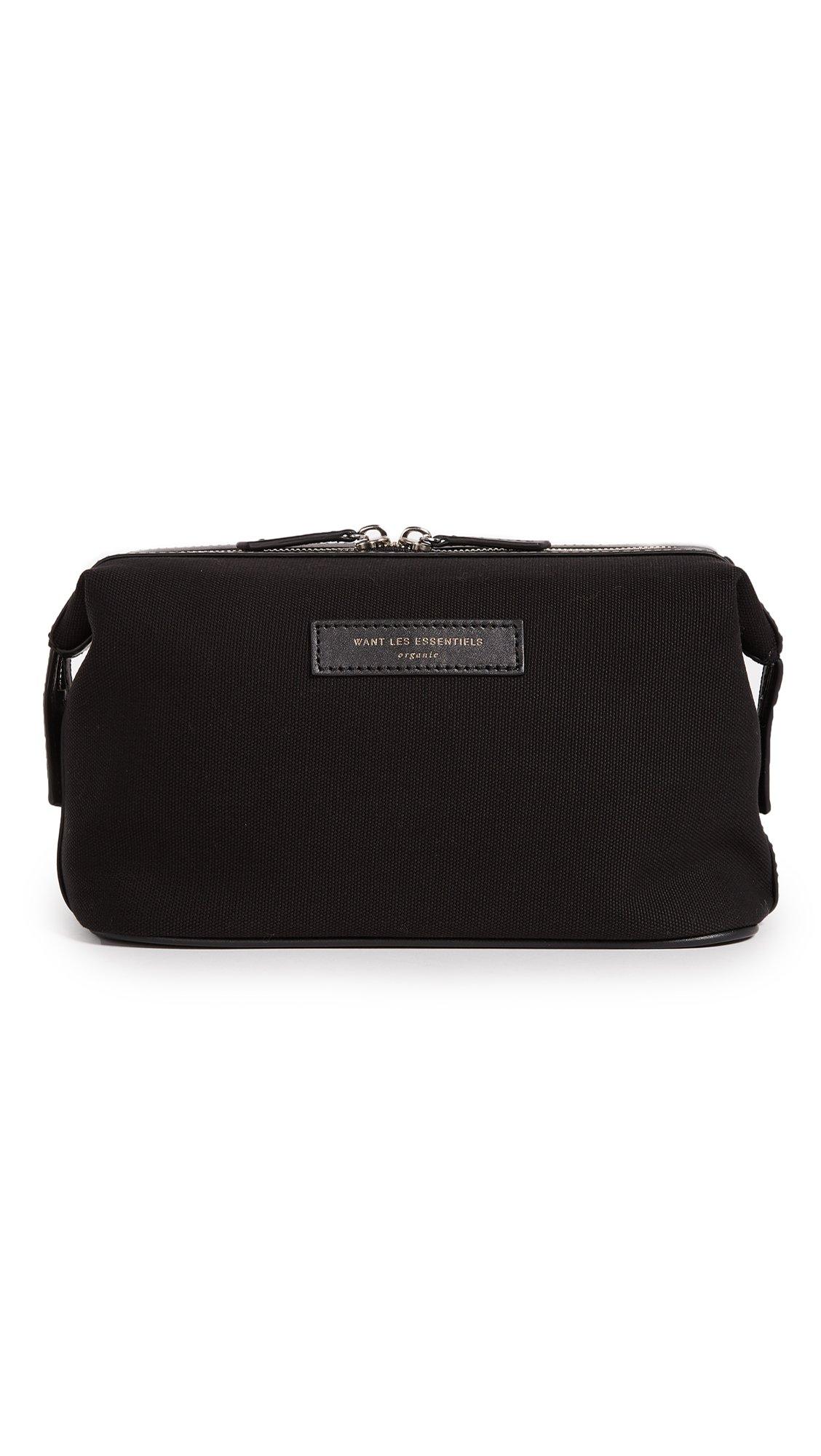 WANT Les Essentiels Men's Kenyatta Dopp Kit, Black/Black, One Size