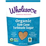 Wholesome Organic Raw Cane Turbinado Sugar, Fair Trade, Non GMO, 1.5 lbs, (Single unit)