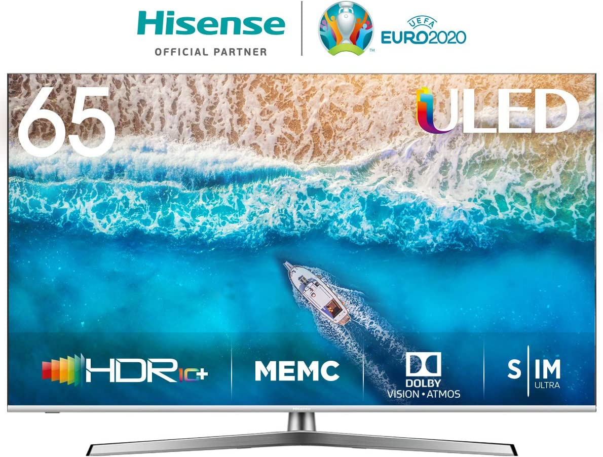 Hisense H65U7BE - Smart TV ULED 65 4K Ultra HD con Alexa Integrada, Bluetooth, Dolby Vision HDR, HDR 10+, Audio Dolby Atmos, Ultra Dimming, Smart TV VIDAA U 3.0 IA, mando con
