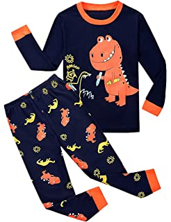 dd99e1e5cc35 Amazon.com  Toddler Boys Pajamas Easter Little Kids Pjs Dino ...