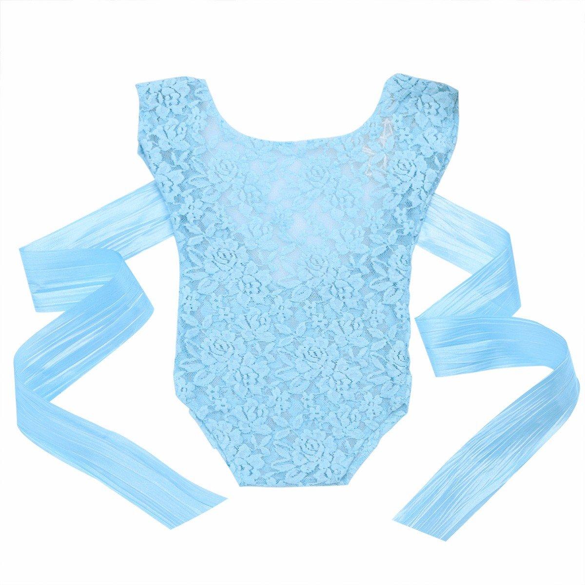 iiniim Neugeborenes Baby M/ädchen Strampler Spitze Bodysuit Sommer Outfits Foto Fotografie Prop Babybekleidung