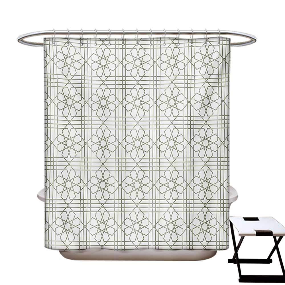 Amazon.com: Cortina de ducha gris con diseño de mosaico con ...