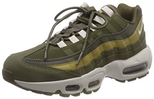 watch ff369 c0589 Nike Men s Air Max 95 Essential Gymnastics Shoes, Green (Olive Canvas Lt  Bone