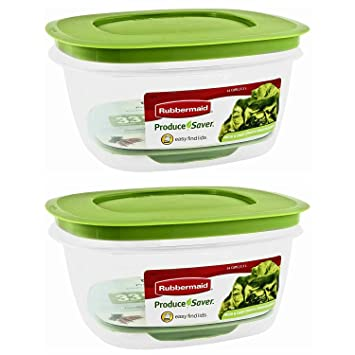 Vegetable Saver Containers Amazon rubbermaid produce saver square 14 cup food storage pack amazon rubbermaid produce saver square 14 cup food storage pack of 2 containers kitchen dining workwithnaturefo