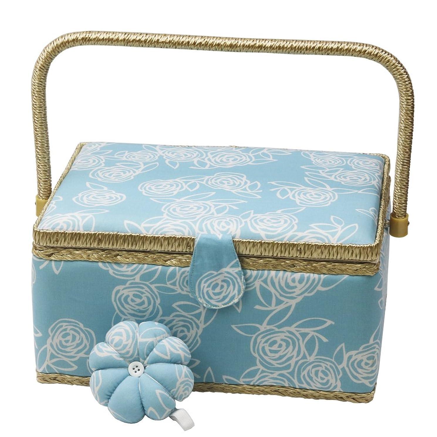 シェーバー世界群れNKTM 裁縫箱 可愛いフリル付きのジュエリーボックス アクセサリー収納ケース ローズ模様