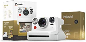 Polaroid Originals Now I-Type Instant Camera - The Golden Gift Box - Camera+Film Bundle (6093)
