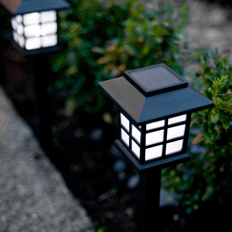 Lights4fun Lot de 9 Lanternes Balises Solaires à Piquet avec LED ...
