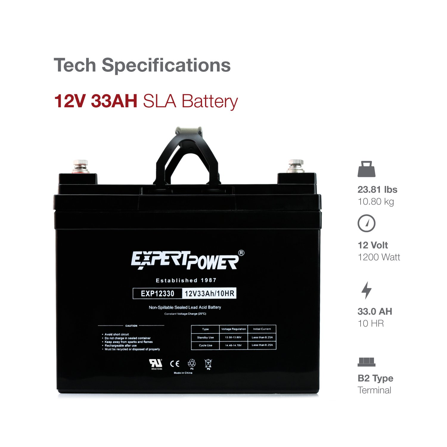 Expertpower 12v 33ah Rechargeable Deep Cycle Battery Charging Circuit Related Keywords Suggestions Exp12330 Replaces 34ah 35ah 36ah Automotive