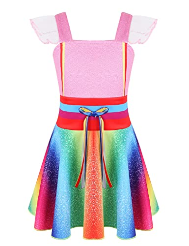 YiZYiF Vestido Princesa Niñas Disfraz de Nancy Fancy Dress ...