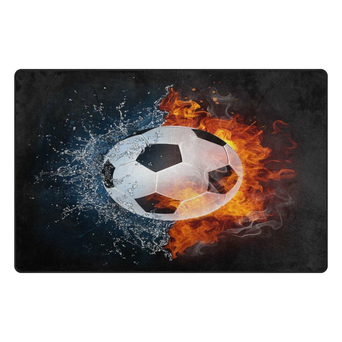 Use7 - Alfombra Antideslizante de balón de fútbol en Zona de Fuego ...
