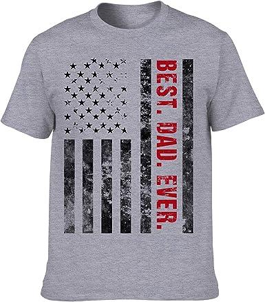 Amandir - Camisa de Regalo para papá Mejor papá Nunca Divertido Camisetas para Hombres Bonus Colgante y Tarjeta