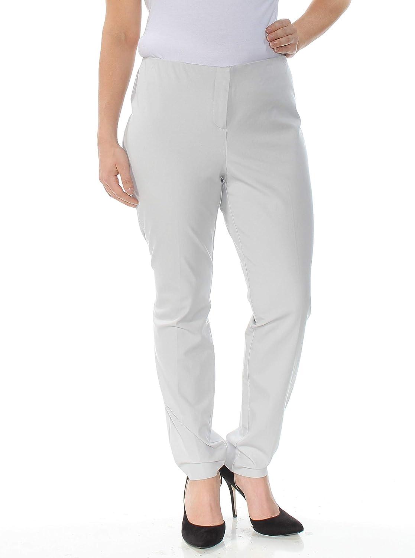 Alfani Womens Pink Contrast Trim Slim Leg Dress Pants Trousers Plus 16 BHFO 9267