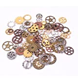 Amazon Price History for:Teenitor Mixed Color 100 Gram (Approx 70pcs) Assorted Antique Steampunk Gears Charms Pendant Clock Watch Wheel Gear for Crafting, Jewelry Making