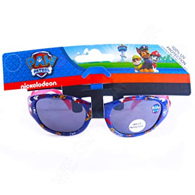 c9c5fb29b0 Boys Paw Patrol Sunglasses 100% UV PROTECT Blue   Red  Amazon.co.uk ...