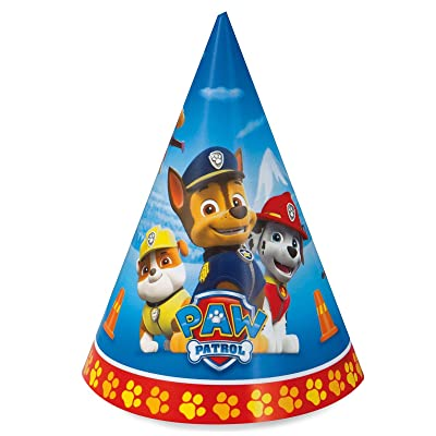 Paw Patrol Birthday Party Supplies 16 Pack Cone Party Hats: Toys & Games