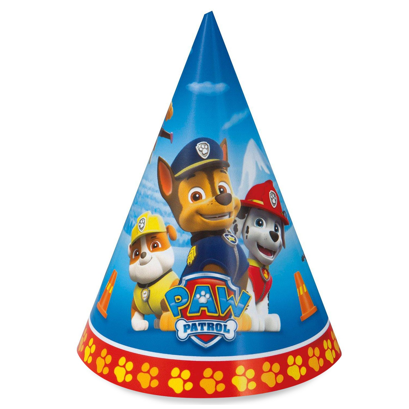 Paw Patrol birthday party supplies 16 pack cone party hats by BirthdayExpress