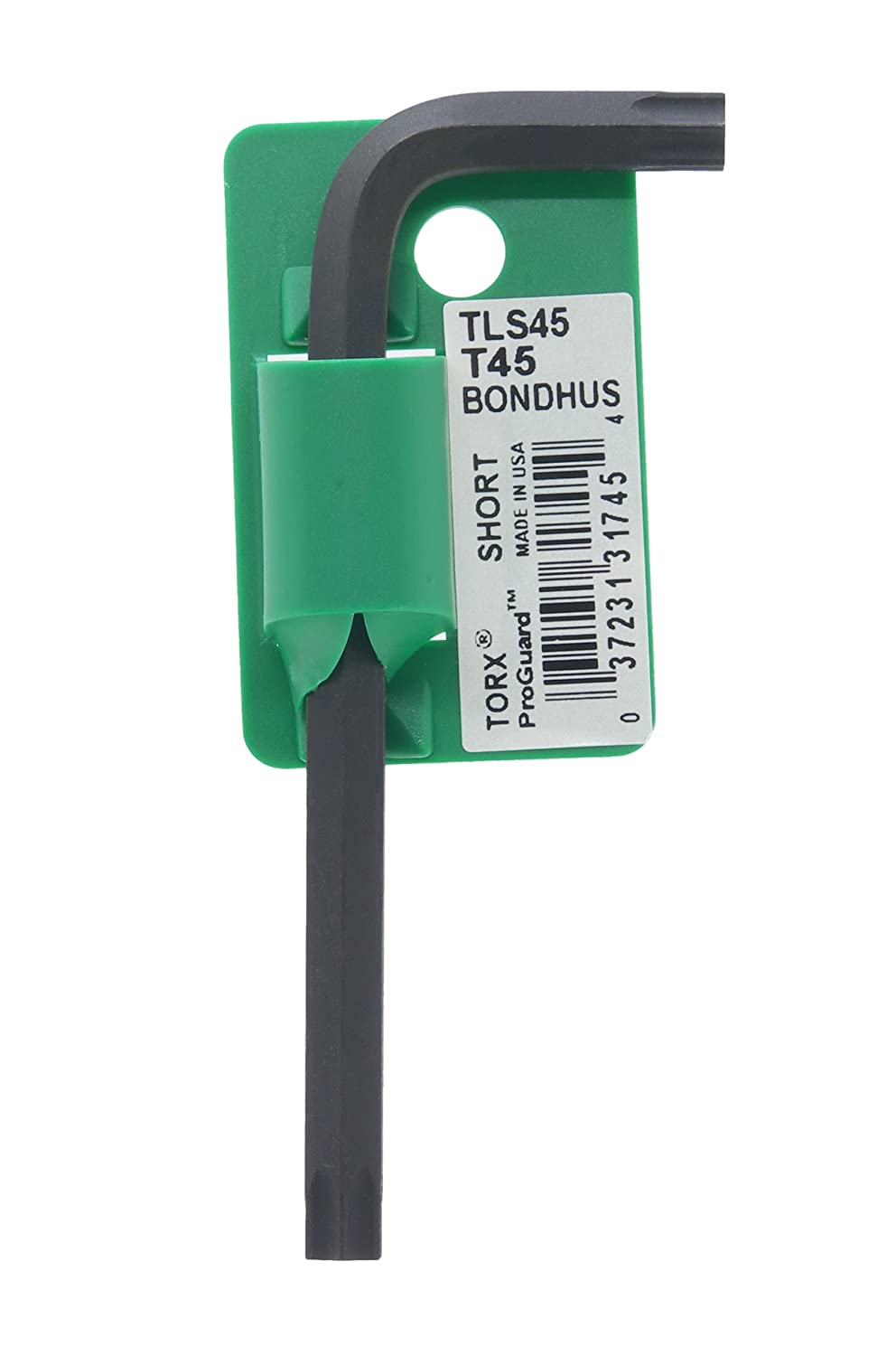 3.9 Bondhus 31745 Tagged and Barcoded T45 Star Tip Hex Key L-Wrench with ProGuard Finish