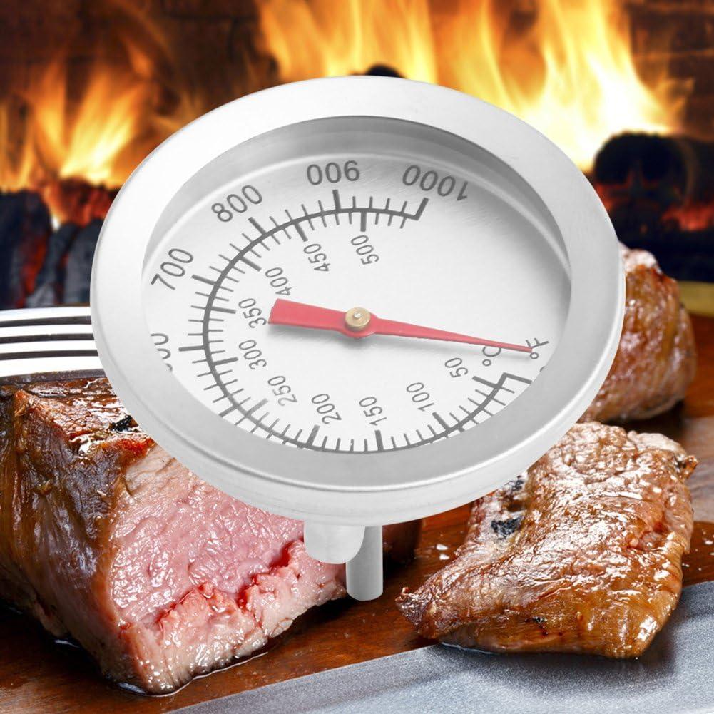 Qianqian56 Edelstahl Barbecue BBQ Smoker Grill 50 500 /°C Thermometer Temperaturanzeige