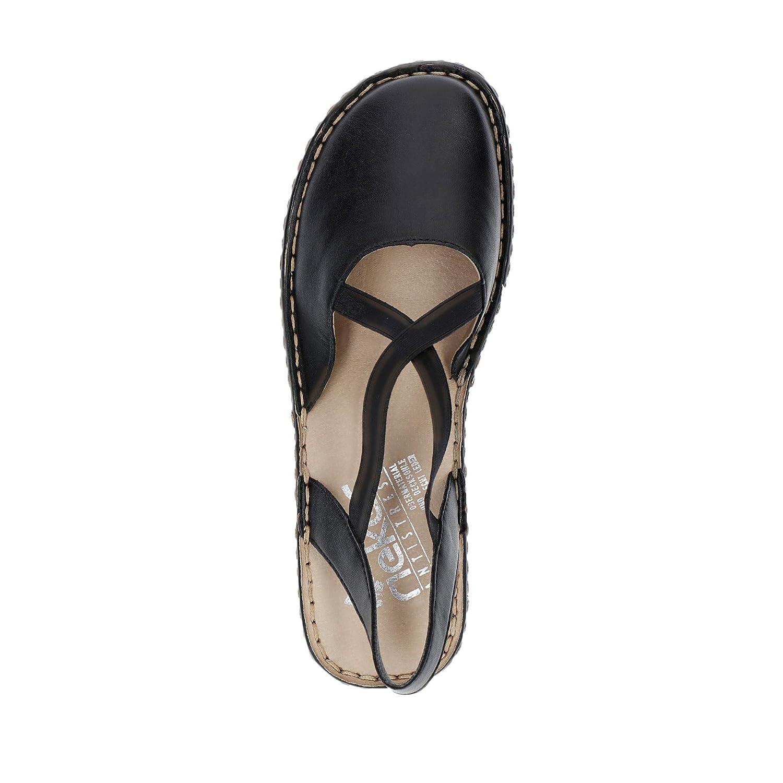 Rieker 64871 01 Womens Ballet Flats Sling Sandal