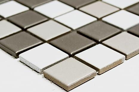 Rete mosaico mosaico piastrelle parete doccia mix bianco grigio