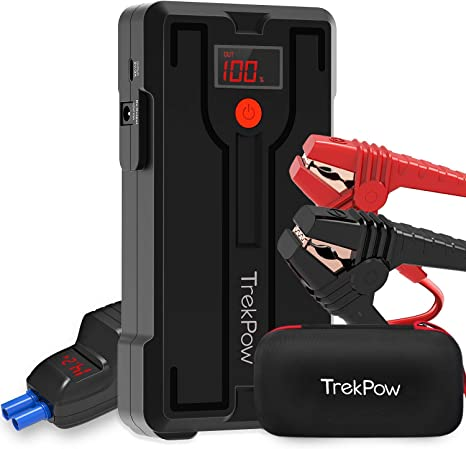 Car Jump Starter, TrekPow G39 1200A Peak 12V Battery Jumper Starter (up to 6.5L Gas/5.5L Diesel Engine) Auto Booster Jump Pack Portable with Smart ...