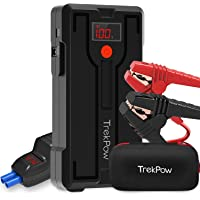 Jump Starter Battery Pack, TrekPow G39 1200A Car Battery Jump Starter(up to 6.5L Gas/5.5L Diesel Engine), Upgraded Jumper Cable with Voltmeter, 12V Portable Jumper Box with Fast Charging, Flashlight