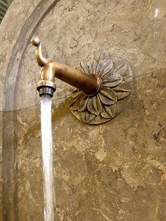 Wasserauslauf Brunnen.Antikas Wasserspeier Venezianischer Brunnenspeier Messing Wasserauslauf Wie Antik