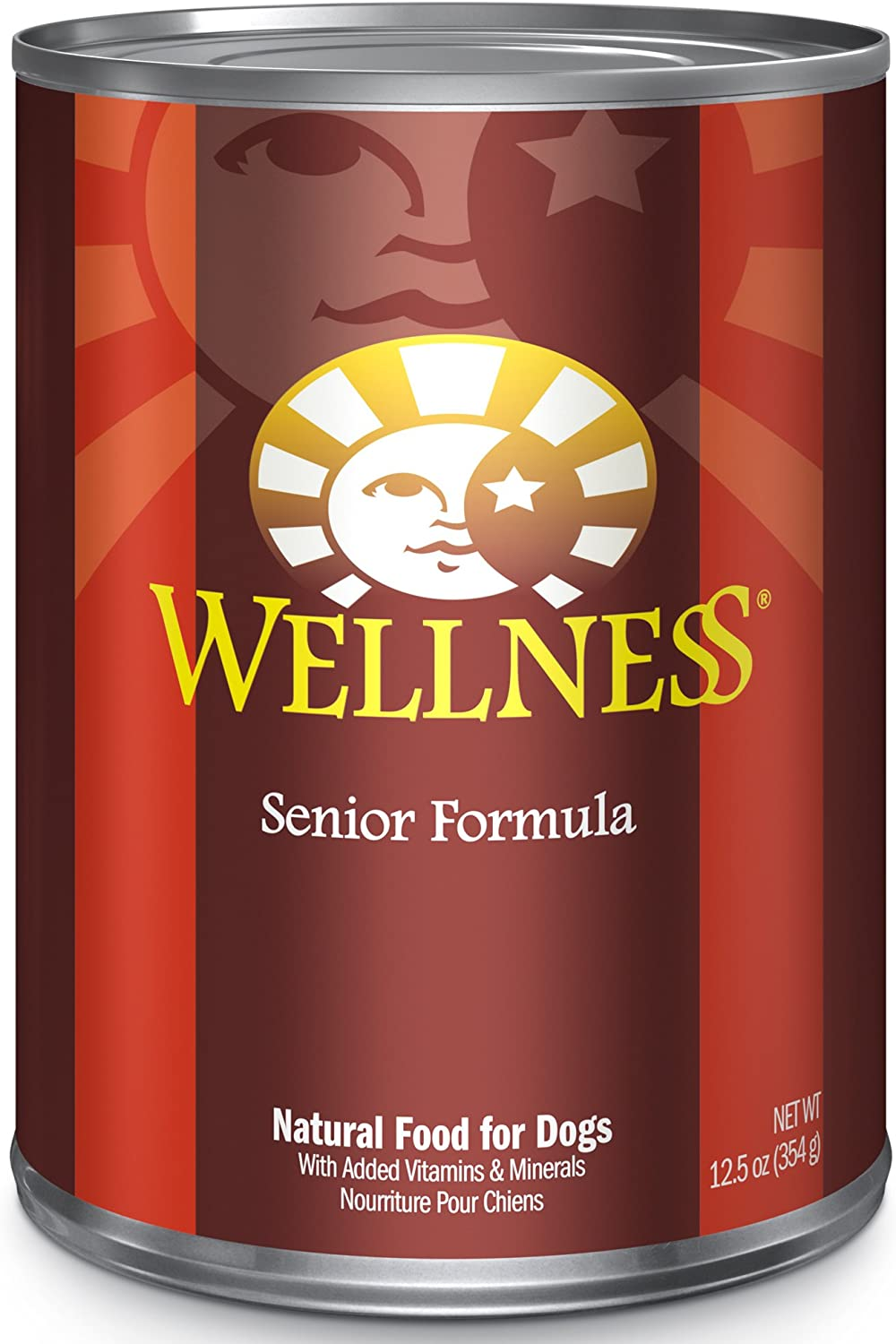 Wellness Complete Health Natural Wet Canned Dog Food Senior Chicken & Sweet Potato