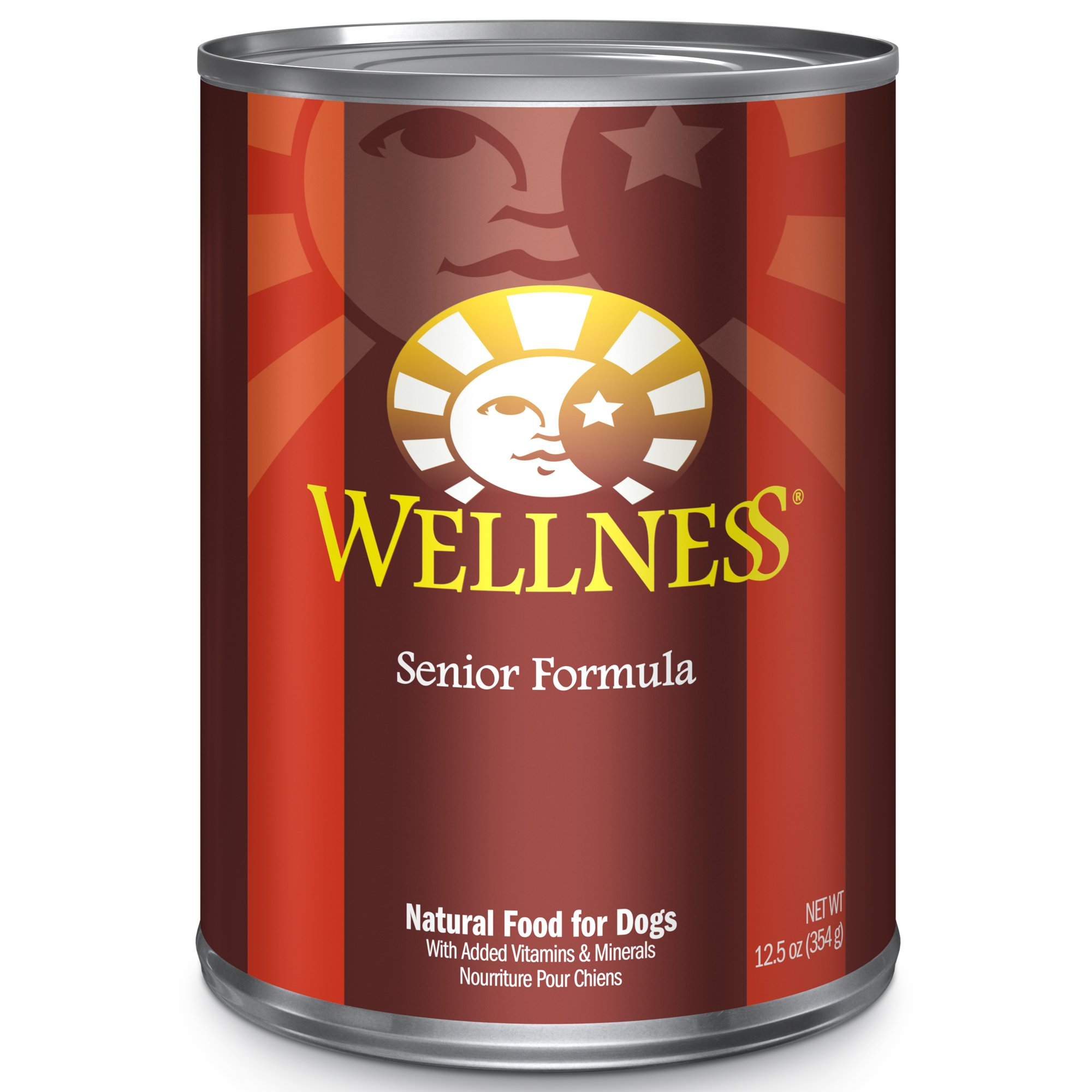 Wellness Complete Health Natural Wet Canned Senior Dog Food, Chicken & Sweet Potato, 12.5-Ounce Can (Pack Of 12) by Wellness Natural Pet Food
