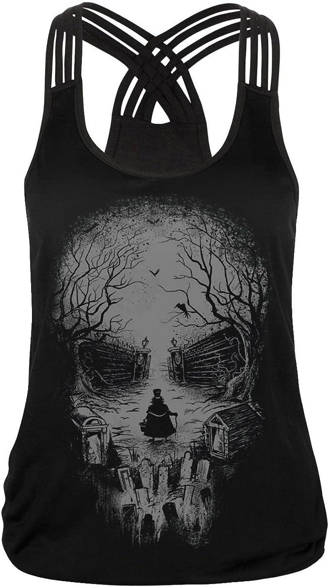Acheter t-shirt femme tete de mort online 5