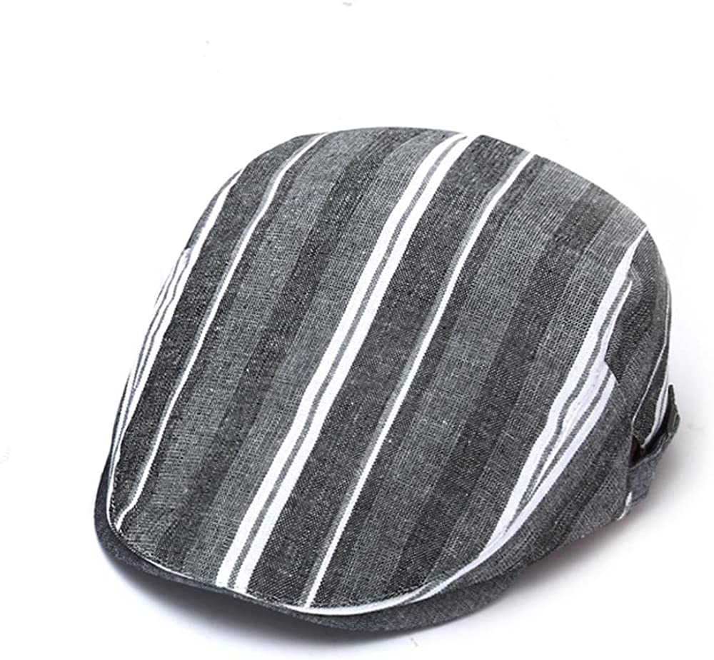 Outdoor Leisure Pure Cotton Material Striation Adjustable a Couple Berets