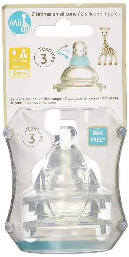 Mii Sophie 450540.0 - Set 2 tetinas flujo recién nacido: Amazon.es: Bebé