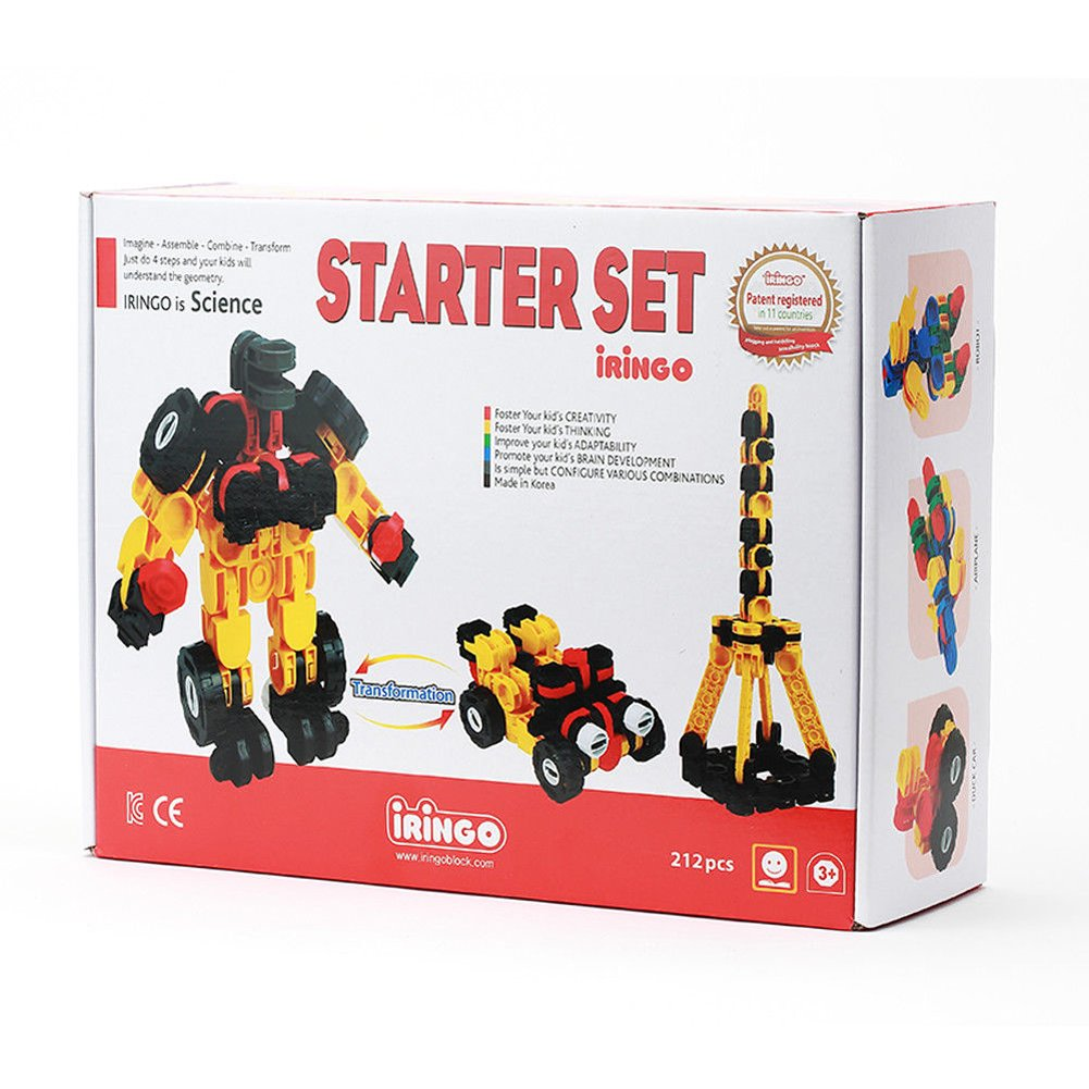 iRiNGO The starter Set 212pcs Transformable Kids Creativity IQ EQ Block Toy
