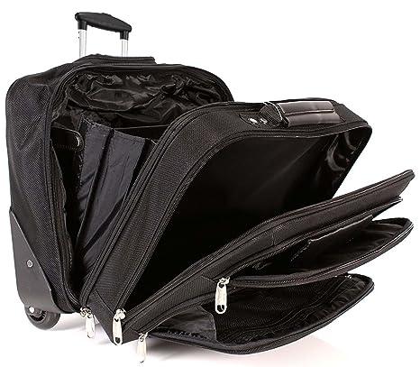 b9bfc0541 6938 Nero Lorenz Trolley Business Laptop Case Borsa da viaggio, dimensioni  bagaglio a mano