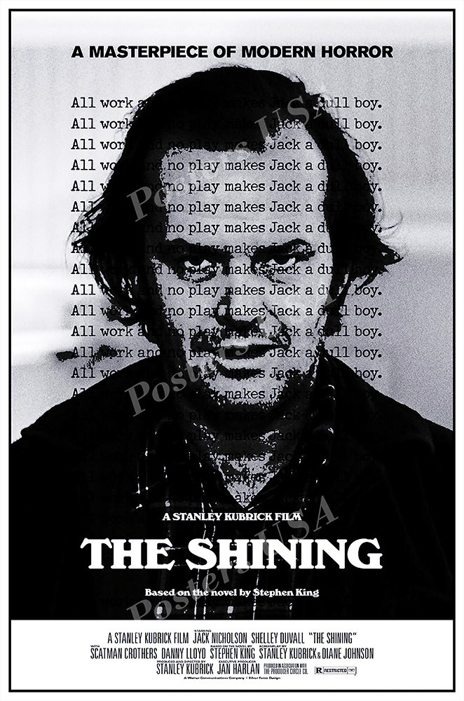 Posters USA - The Shining Movie Poster GLOSSY FINISH) - MOV085 (24'' x 36'' (61cm x 91.5cm)) by Posters USA