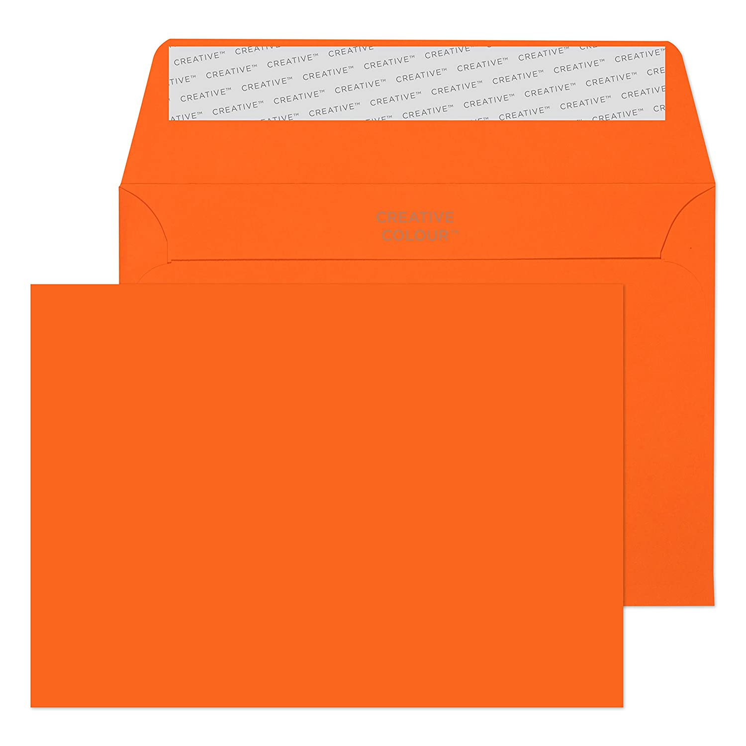 Blake Creative Color, Bright Red Invitation Envelopes, 4 1/2 x 6 3/8 Inches, Fire Engine Red, 80lb Paper, Peel & Seal (106-76) - Pack of 500