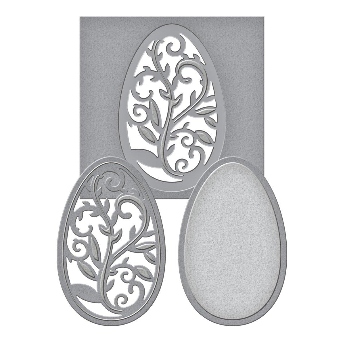 Amazon.com: Spellbinders S2-053 Die D-Lites Filigree Egg Etched ...