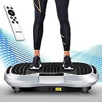 icefox Profi Vibrationsplatte,3D Dual-Motor Fitness Vibration Plate mit Bluetooth 4.0 Lautsprecher/LCD Display & Fernbedienung /10 Trainings-Programme-180 Level